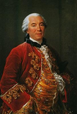 Painting by François-Hubert Drouais - Musée Buffon à Montbard, France