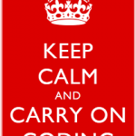 Keep Calm and Carry On Coding