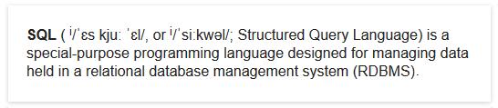 SQL-Definition