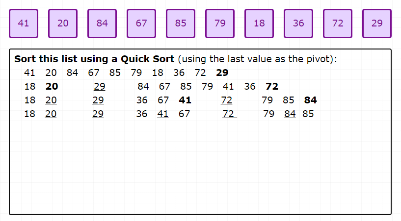 card-sort-quick-sort