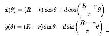 hypotrochoid-formulas