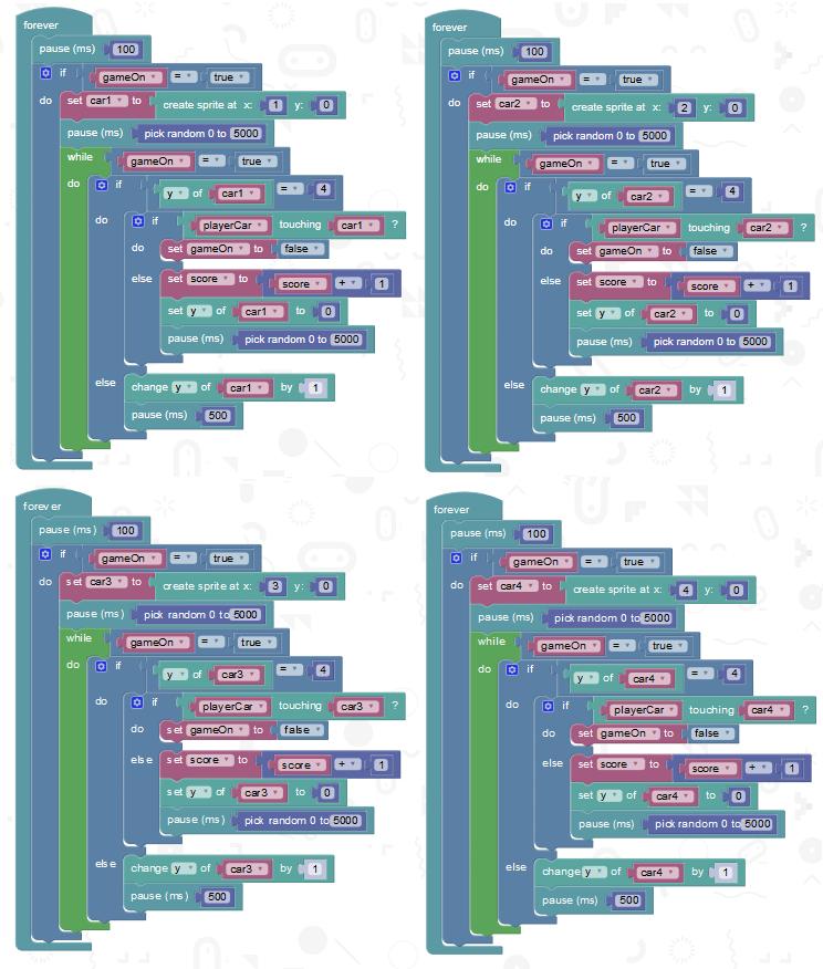 Car Racing Game Javascript Code