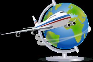 plane-globe