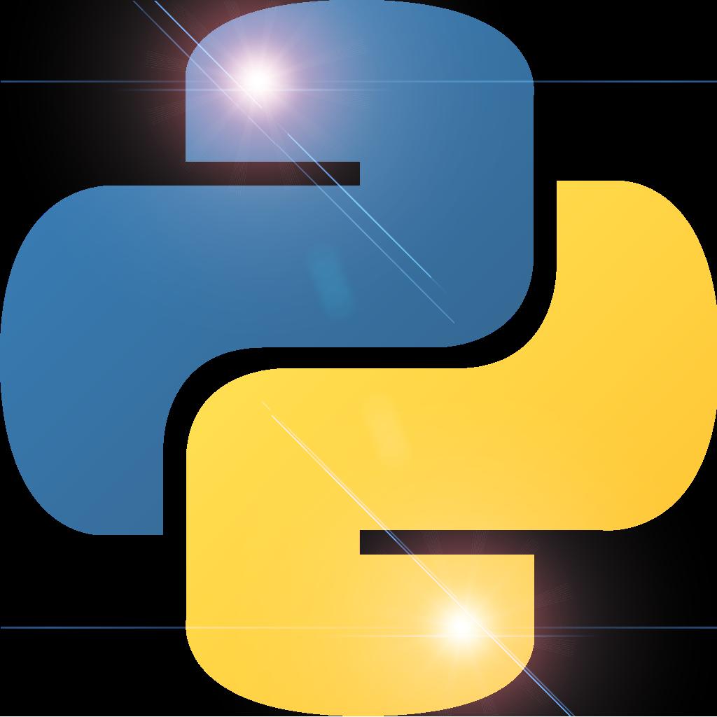 python-logo-lens-flare