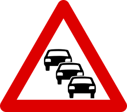 queue-road-sign
