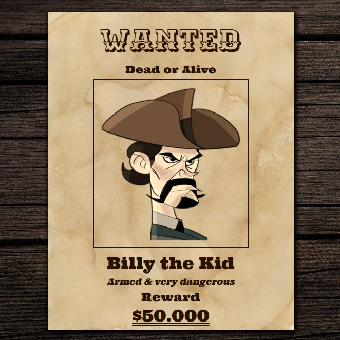 wanted-poster-css